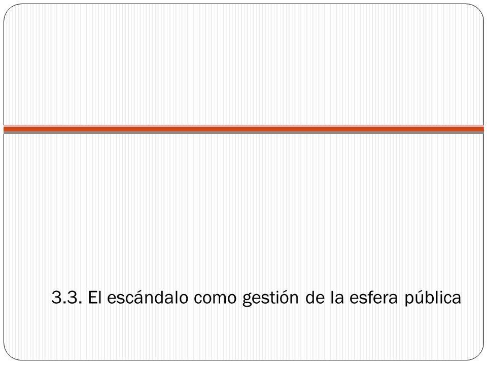 3.3. El escándalo como gestión de la esfera pública