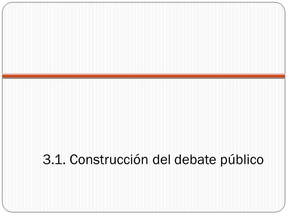 3.1. Construcción del debate público
