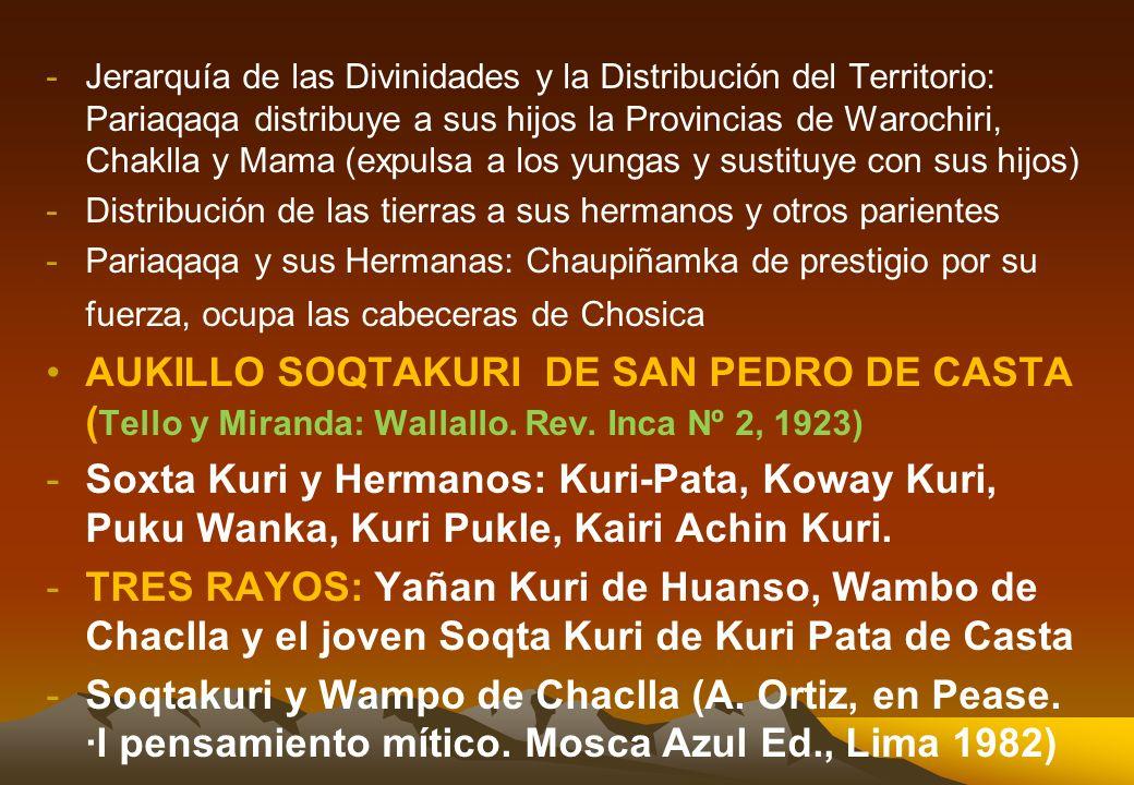2.3. JERARQUIA DE LOS APU WAMANI EN LA RUTA DE QAPAQ-ÑAN CASO 1: JERARQUIA DE LOS APUS EN EL DISTRITO DE QUINUA, AYACUCHO CASO 2: LOS APUS DEL VALLE D