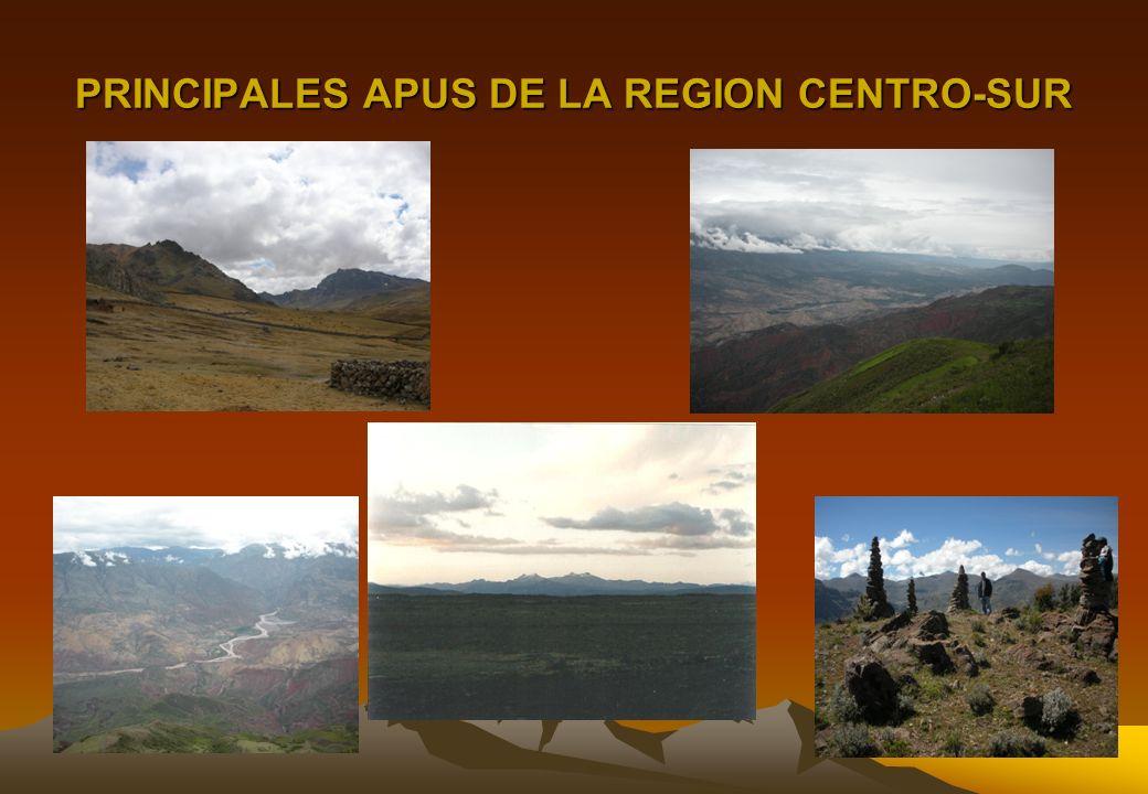 LOS APUS DE PRETIGIO Y RANGO REGIONAL * RASUWILLKA (Huanta-Ayac.) CULTO Y PRESTIGIO MAYOR DE * QARWARASU (Huanta-Ayac.) LOS APUS REGIONALES * WAMANRAS