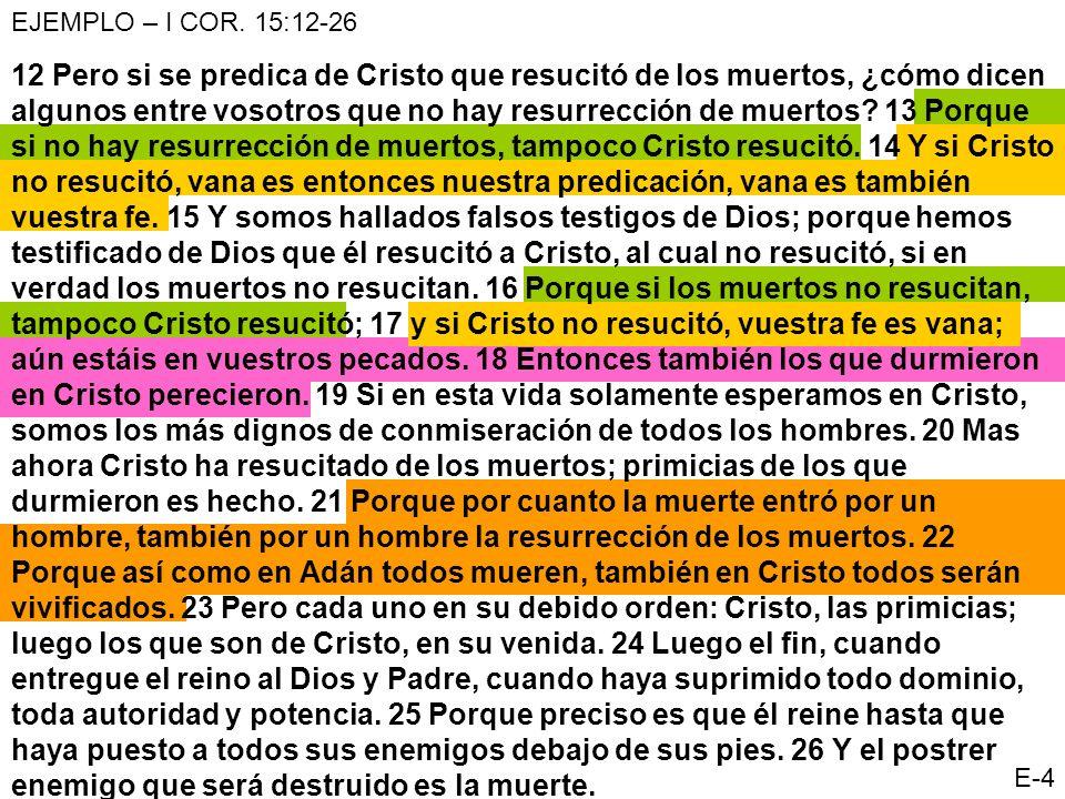 12 Pero si se predica de Cristo que resucitó de los muertos, ¿cómo dicen algunos entre vosotros que no hay resurrección de muertos? 13 Porque si no ha