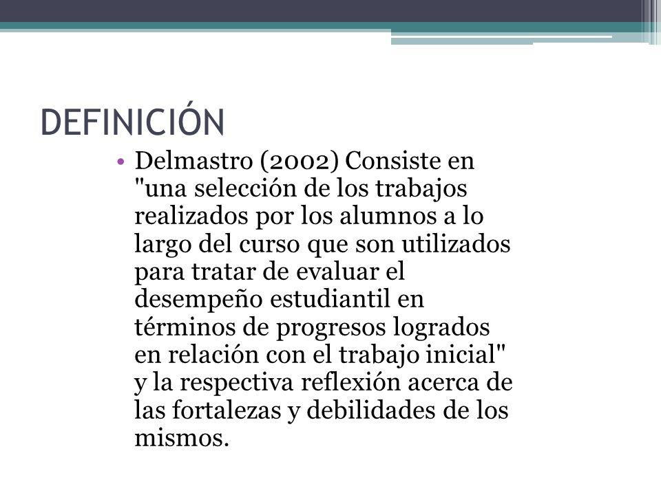 DEFINICIÓN Delmastro (2002) Consiste en