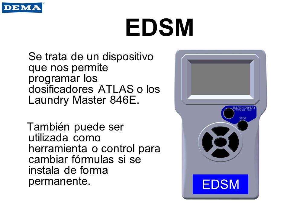 EDSM Se trata de un dispositivo que nos permite programar los dosificadores ATLAS o los Laundry Master 846E. También puede ser utilizada como herramie