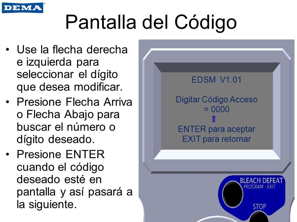 Fijar Datos Usado para programar Tiempos de Bloqueo (TIEMPO FUERA DE SERVICIO).