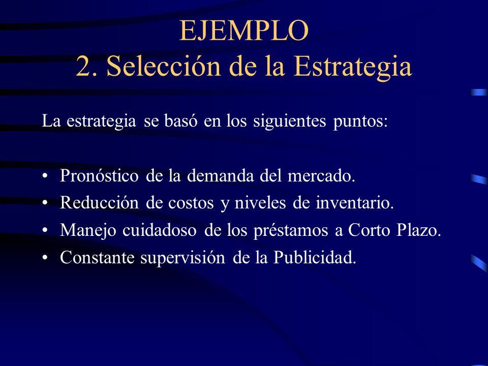 EJEMPLO: 1. Objetivos de la Administración Definir objetivos y estrategias organizacionales. Presupuestos para obtener información del entorno. Admini
