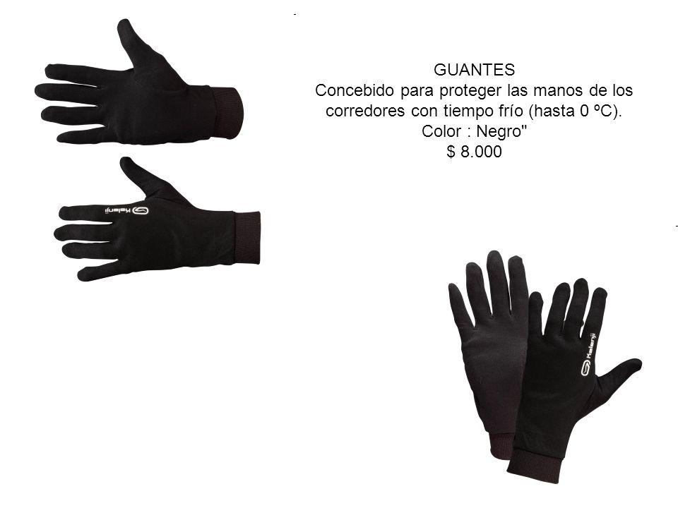 GUANTES Concebido para proteger las manos de los corredores con tiempo frío (hasta 0 ºC). Color : Negro