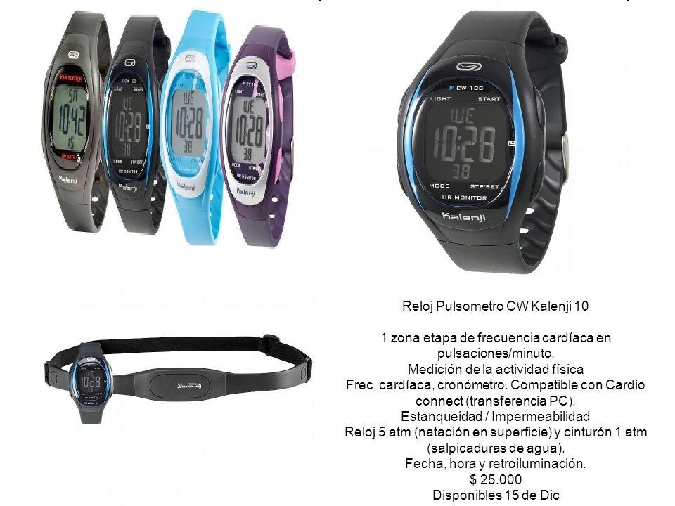 Reloj Pulsometro CW Kalenji 10 1 zona etapa de frecuencia cardíaca en pulsaciones/minuto. Medición de la actividad física Frec. cardíaca, cronómetro.