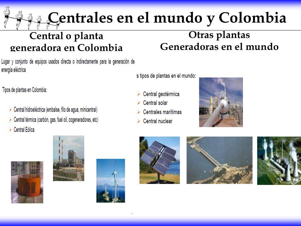Centrales en el mundo y Colombia Central o planta generadora en Colombia Otras plantas Generadoras en el mundo