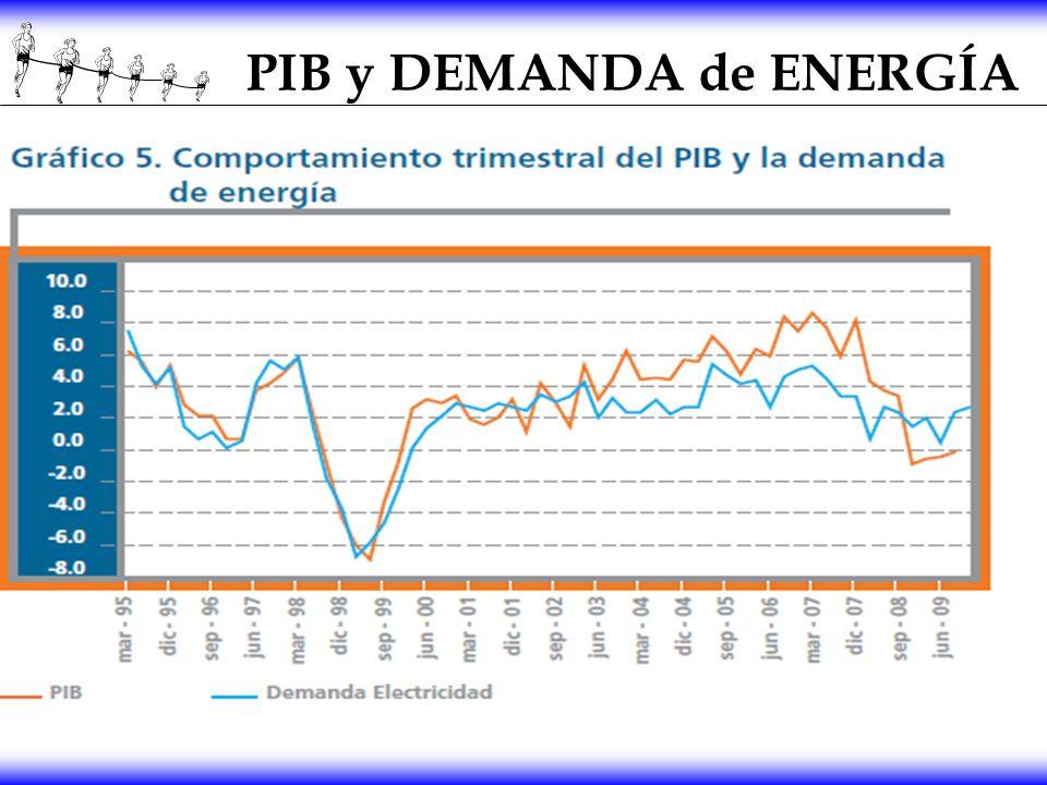 PIB y DEMANDA de ENERGÍA