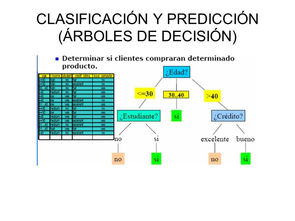 CLASIFICACIÓN Y PREDICCIÓN (ÁRBOLES DE DECISIÓN)
