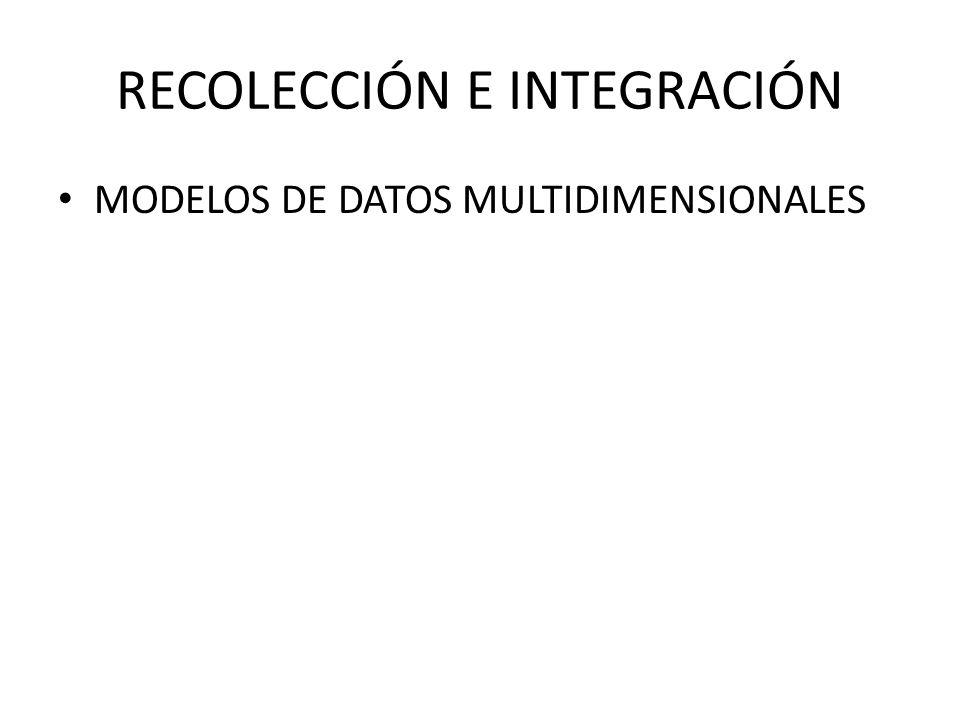 RECOLECCIÓN E INTEGRACIÓN MODELOS DE DATOS MULTIDIMENSIONALES