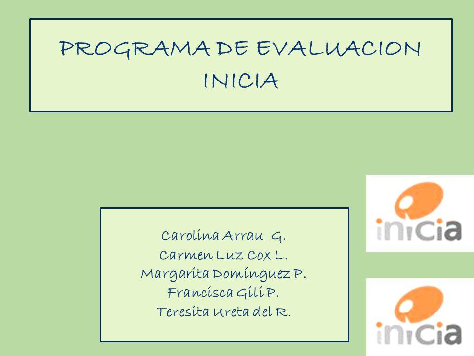 PROGRAMA DE EVALUACION INICIA Carolina Arrau G. Carmen Luz Cox L. Margarita Domínguez P. Francisca Gili P. Teresita Ureta del R.