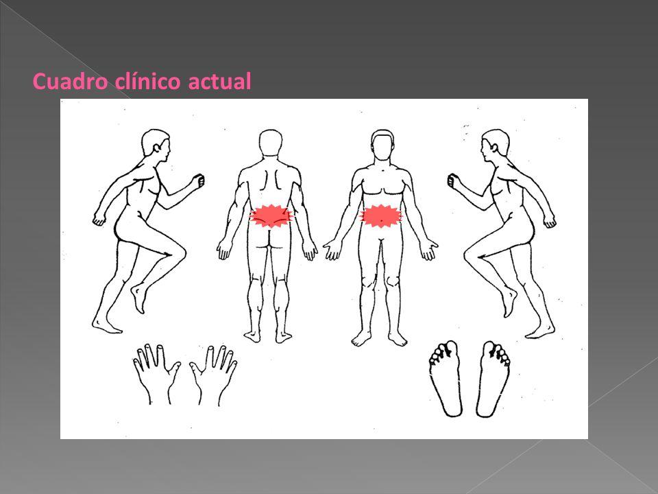 Cuadro clínico actual