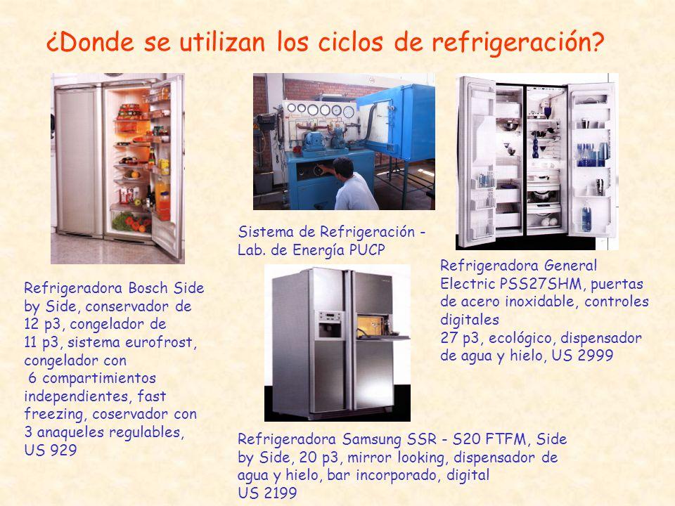¿Donde se utilizan los ciclos de refrigeración? Refrigeradora Bosch Side by Side, conservador de 12 p3, congelador de 11 p3, sistema eurofrost, congel