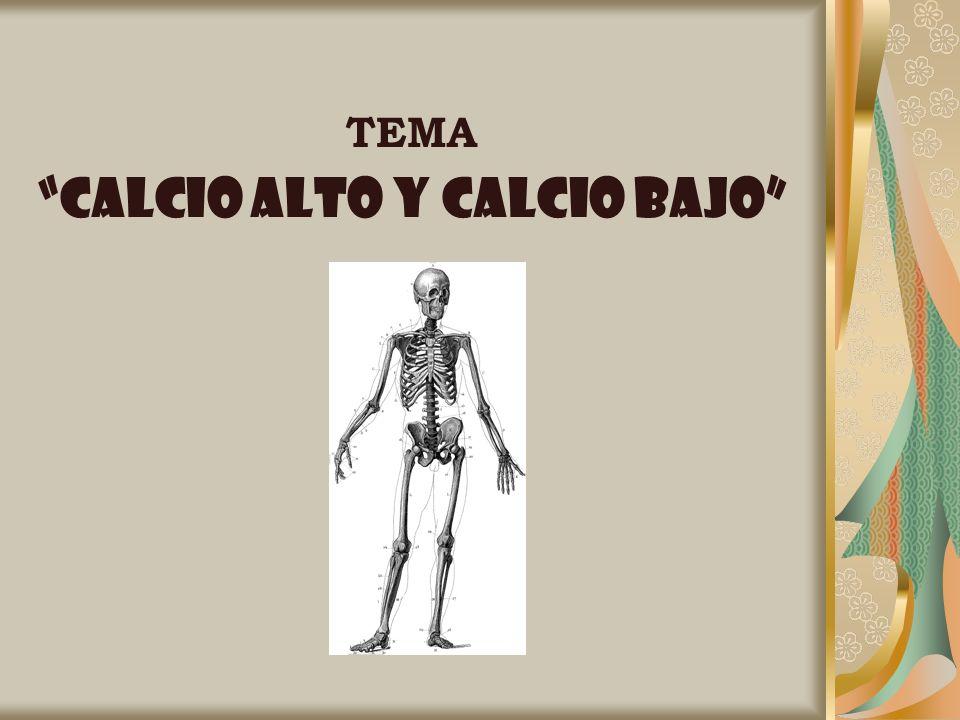 TEMA CALCIO ALTO Y Calcio BAJO