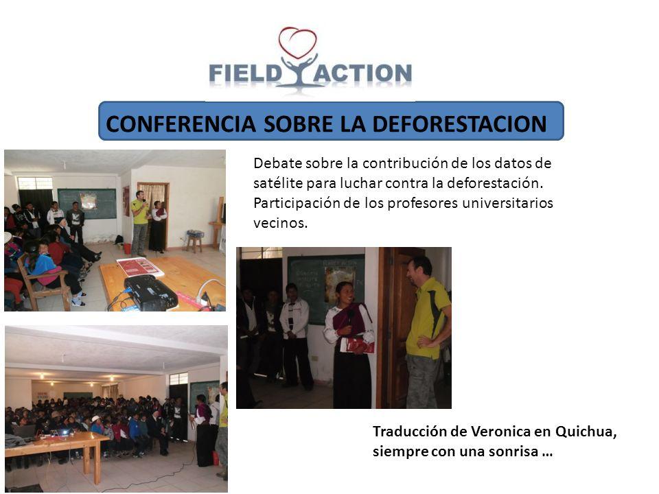 CONFERENCIA SOBRE LA DEFORESTACION Debate sobre la contribución de los datos de satélite para luchar contra la deforestación. Participación de los pro