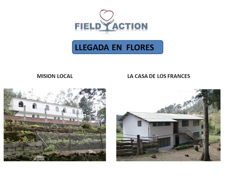 LLEGADA EN FLORES MISION LOCAL LA CASA DE LOS FRANCES