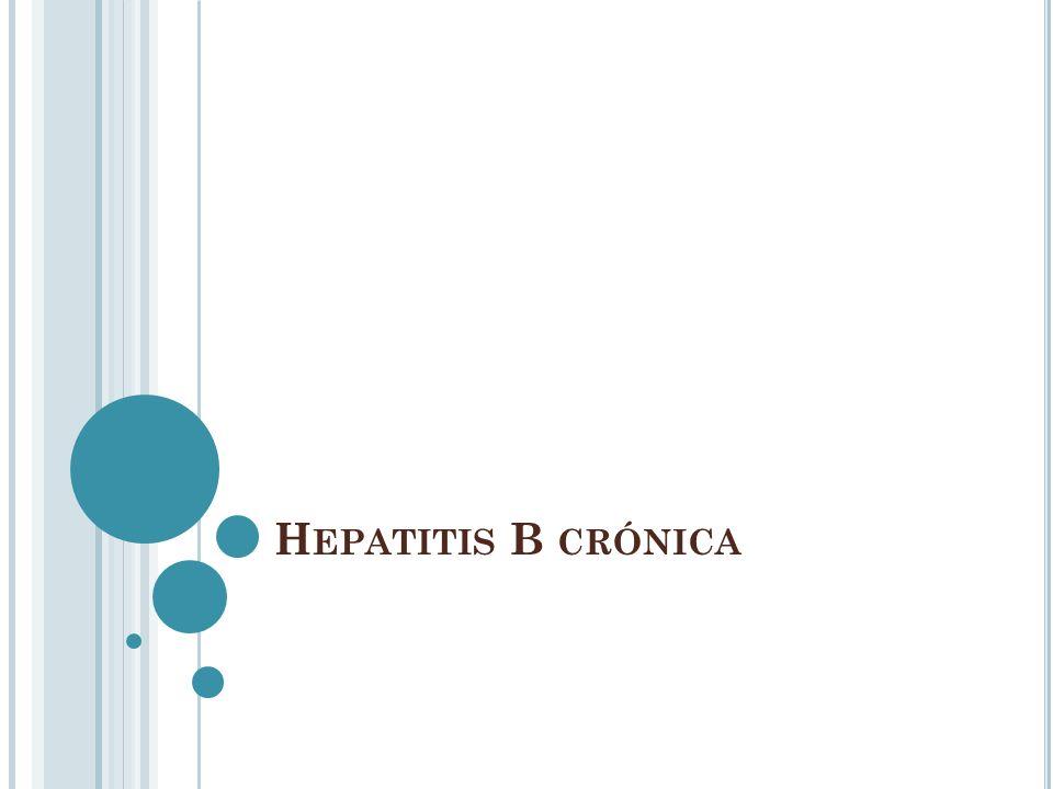 T RATAMIENTO En pacientes no tratados previamente IFN pegilado + ribavirina Respuesta virológica sostenida Genotipo 1 42-52% Genotipo 2 y 3 76-84% G 1 por 48 semanas G 2 y 3 por 24 semanas 4 semanas HHCV RNA indetectable 12 semanas G 4 por 48 semanas GASTROENTEROLOGY 2006;130:225–230