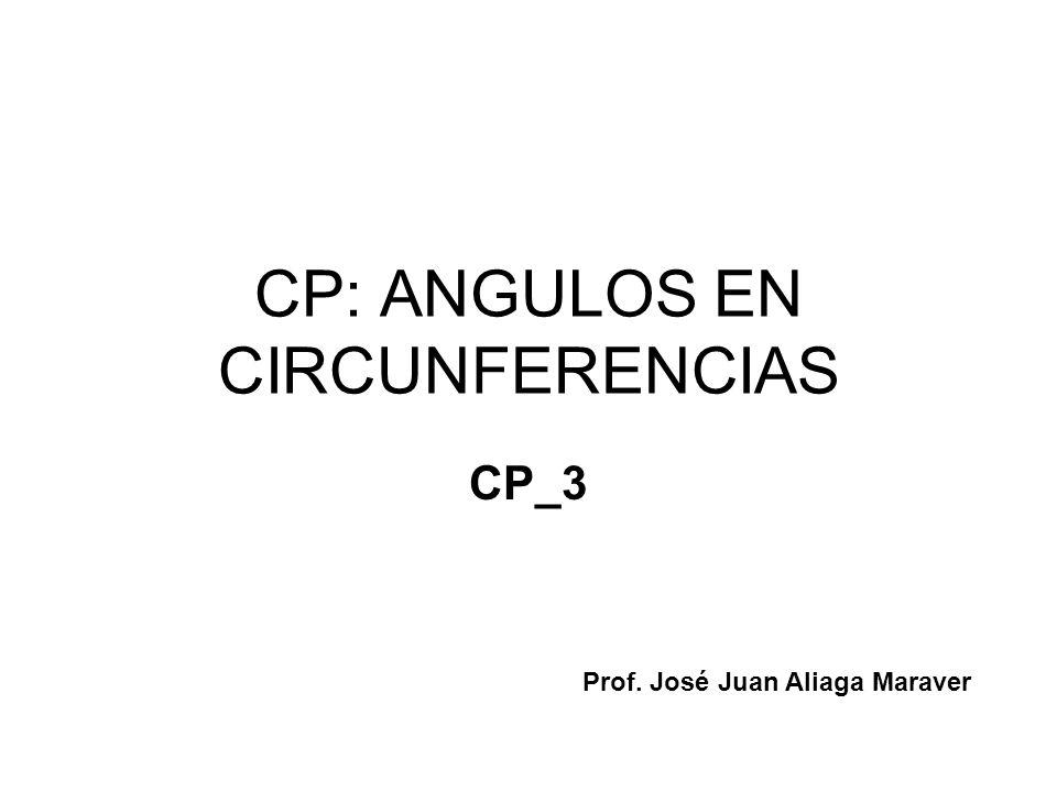 CP: ANGULOS EN CIRCUNFERENCIAS CP_3 Prof. José Juan Aliaga Maraver