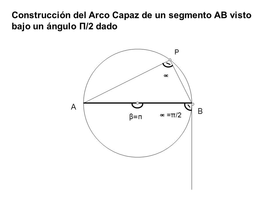 Datos (Lado c, a, Ángulo A).Incógnita (Construir triángulo ABC) Datos (Hipotenusa a, ángulo C).