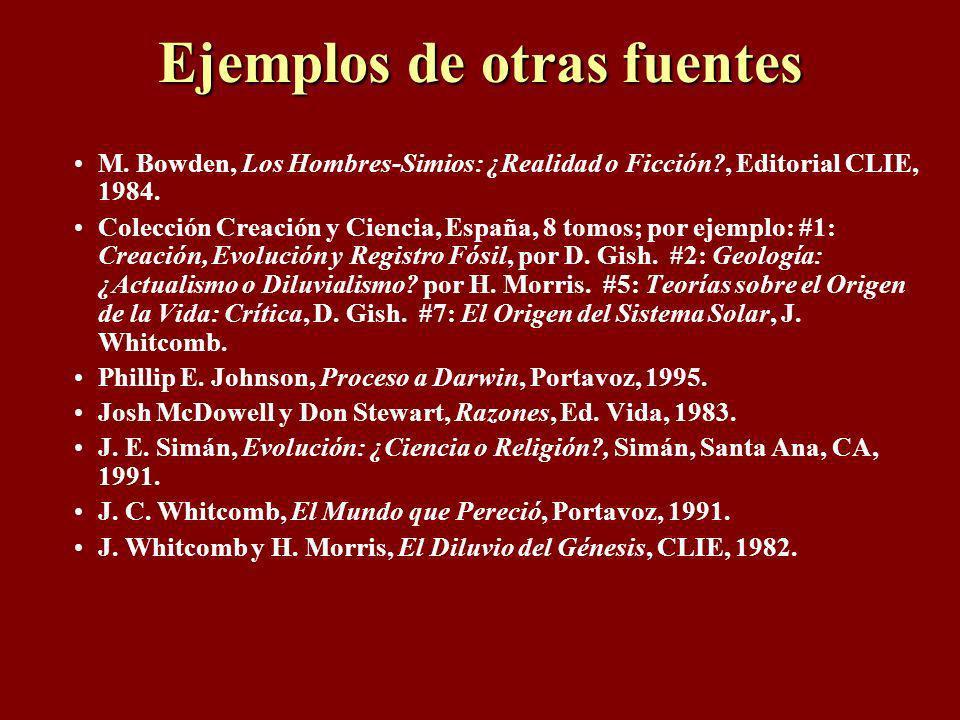 Fuentes de recursos Para muchos buenos libros, videos y artículos, consulte a: www.RespuestasEnGenesis.org www.icr.org