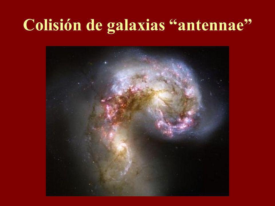 Pero colisión de galaxias Si todo está separándose por todos lados, ¿cómo pueden acercarse chocando?