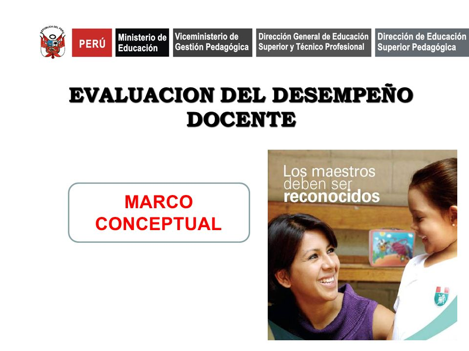 EVALUACIÓN DEL PROFESORADO ÁREAS DE DESEMPEÑO LABORAL SECTOR PÚBLICO Y PRIVADO SISTEMA DE EVALUACIÓN DOCENTE SISTEMA DE CARRERA MAGISTERIAL SISTEMA DE FORMACIÓN CONTINUA SUBSISTEM A DE EVALUACIÓN DEL DESEMPEÑO DOCENTE PERFIL PROFESIONAL DOCENTE