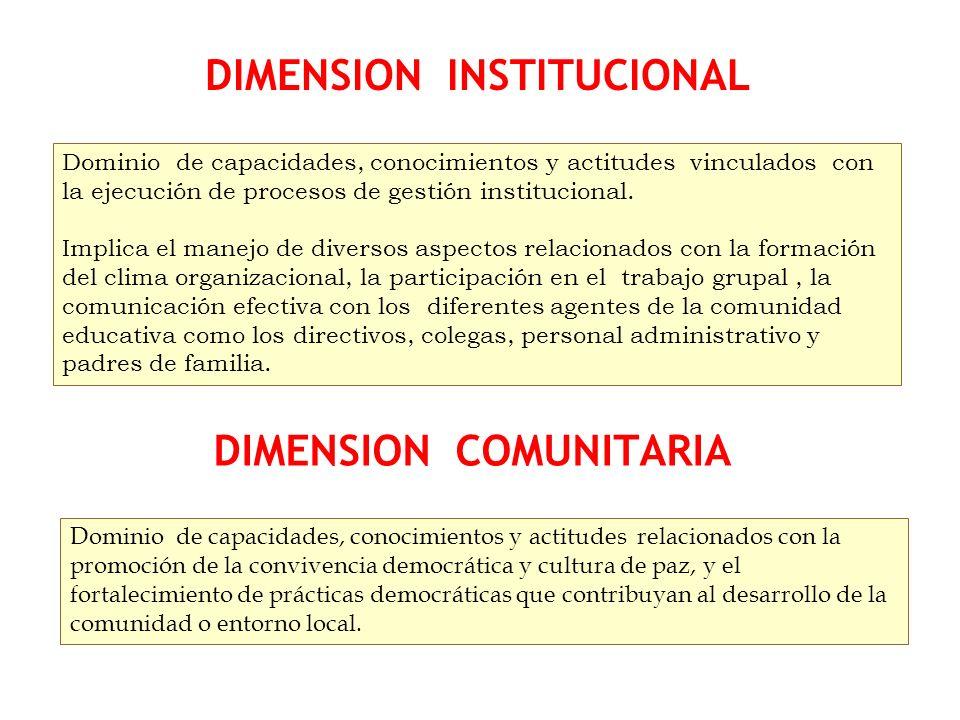 Dominio de capacidades, conocimientos y actitudes vinculados con la ejecución de procesos de gestión institucional. Implica el manejo de diversos aspe