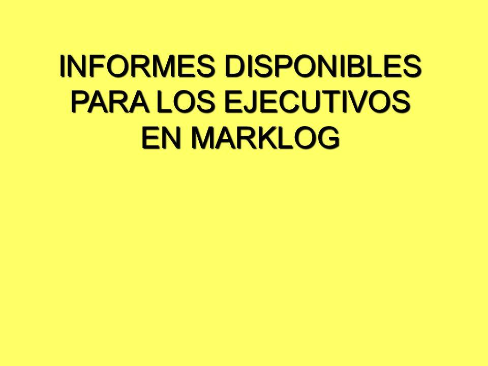 INFORMES DISPONIBLES PARA LOS EJECUTIVOS EN MARKLOG