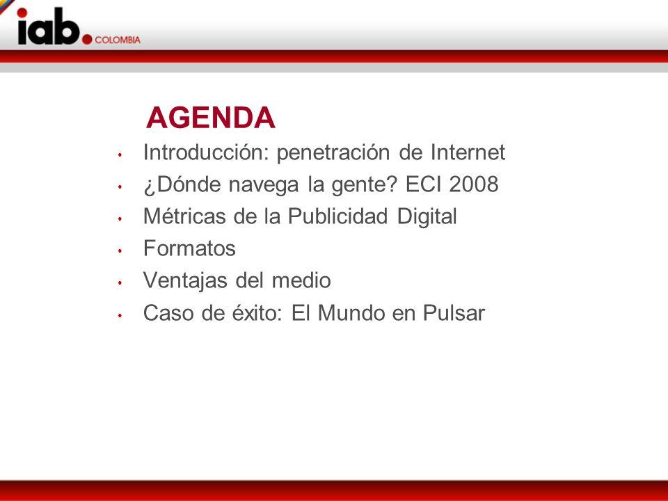AGENDA Introducción: penetración de Internet ¿Dónde navega la gente.