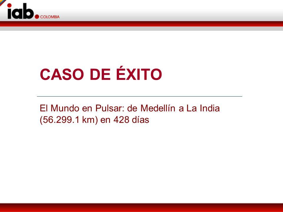 CASO DE ÉXITO El Mundo en Pulsar: de Medellín a La India (56.299.1 km) en 428 días