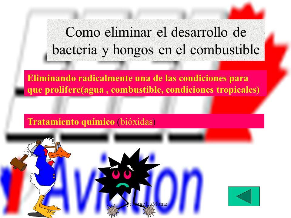 Como eliminar el desarrollo de bacteria y hongos en el combustible Eliminando radicalmente una de las condiciones para que prolifere(agua, combustible