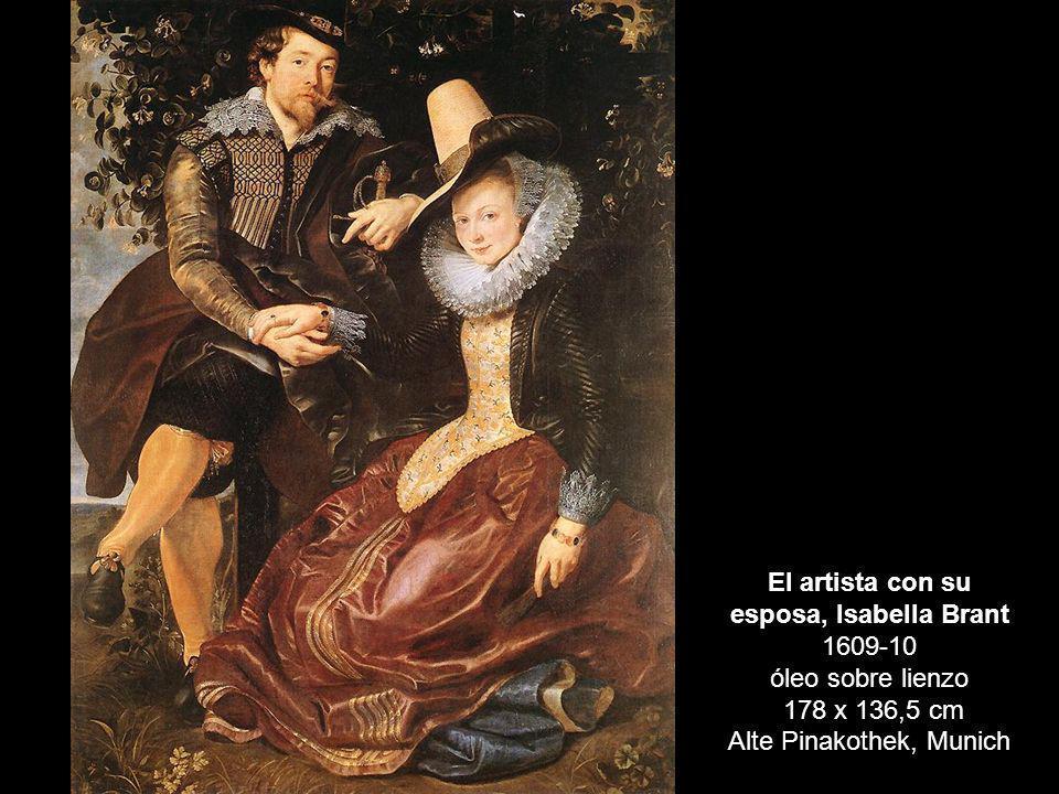 El artista con su esposa, Isabella Brant 1609-10 óleo sobre lienzo 178 x 136,5 cm Alte Pinakothek, Munich