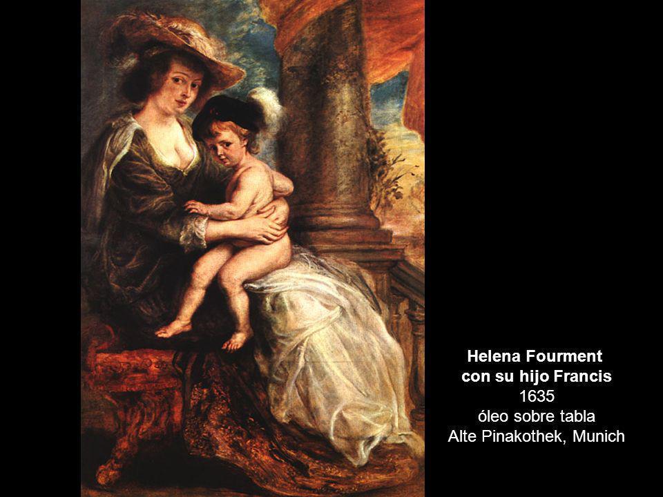 Helena Fourment con su hijo Francis 1635 óleo sobre tabla Alte Pinakothek, Munich