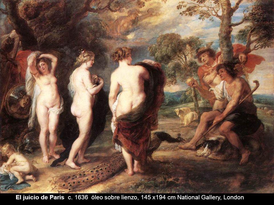 El juicio de Paris c. 1636 óleo sobre lienzo, 145 x194 cm National Gallery, London