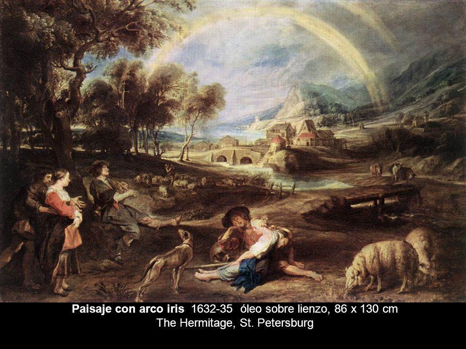 Paisaje con arco iris 1632-35 óleo sobre lienzo, 86 x 130 cm The Hermitage, St. Petersburg