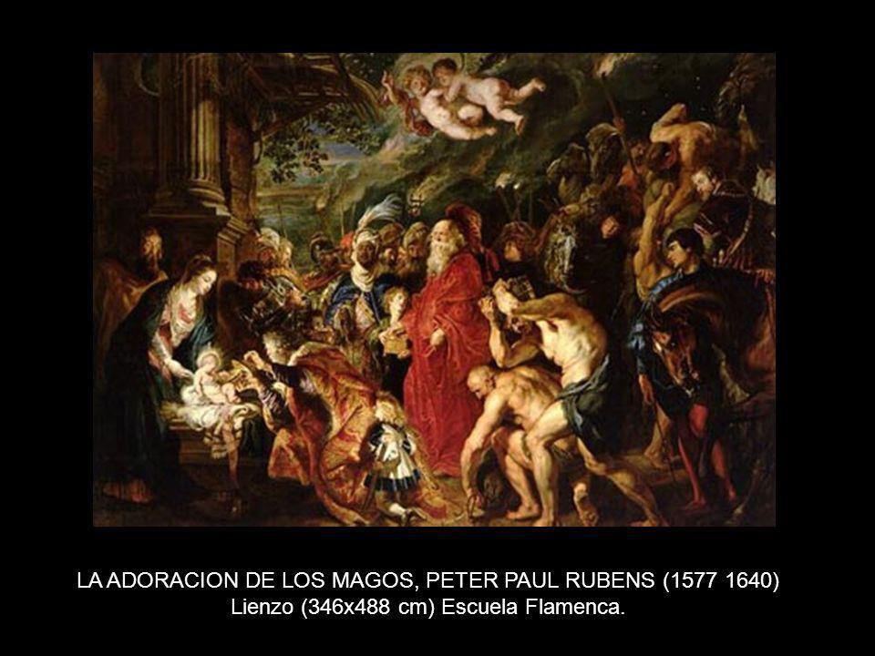 LA ADORACION DE LOS MAGOS, PETER PAUL RUBENS (1577 1640) Lienzo (346x488 cm) Escuela Flamenca.