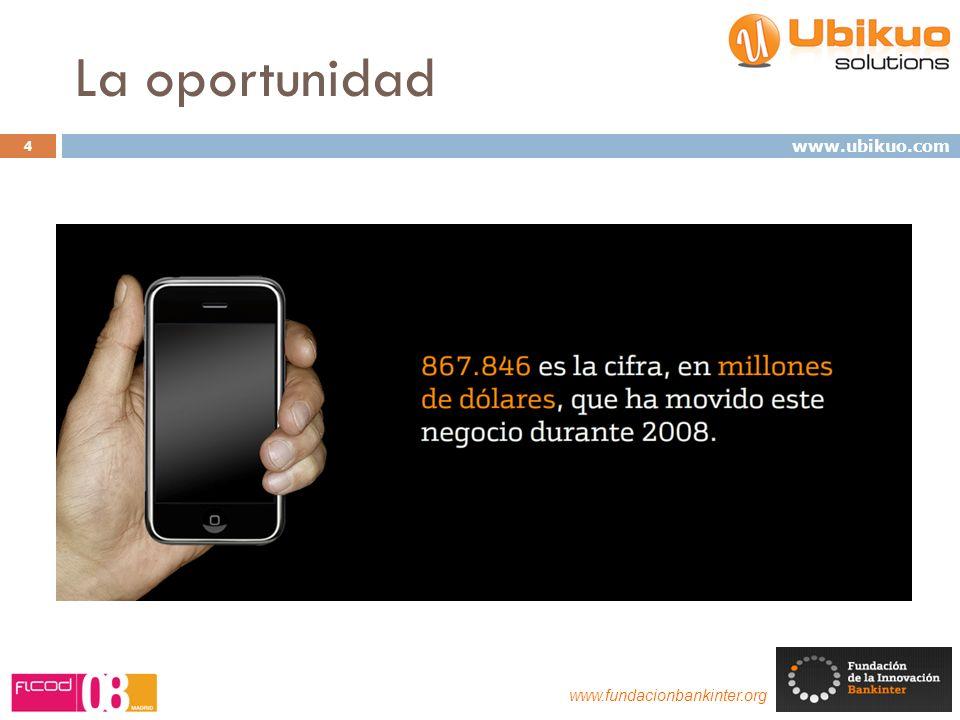 La oportunidad 4 www.fundacionbankinter.org www.ubikuo.com