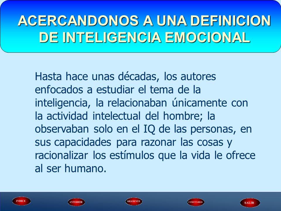 Hasta hace unas décadas, los autores enfocados a estudiar el tema de la inteligencia, la relacionaban únicamente con la actividad intelectual del homb