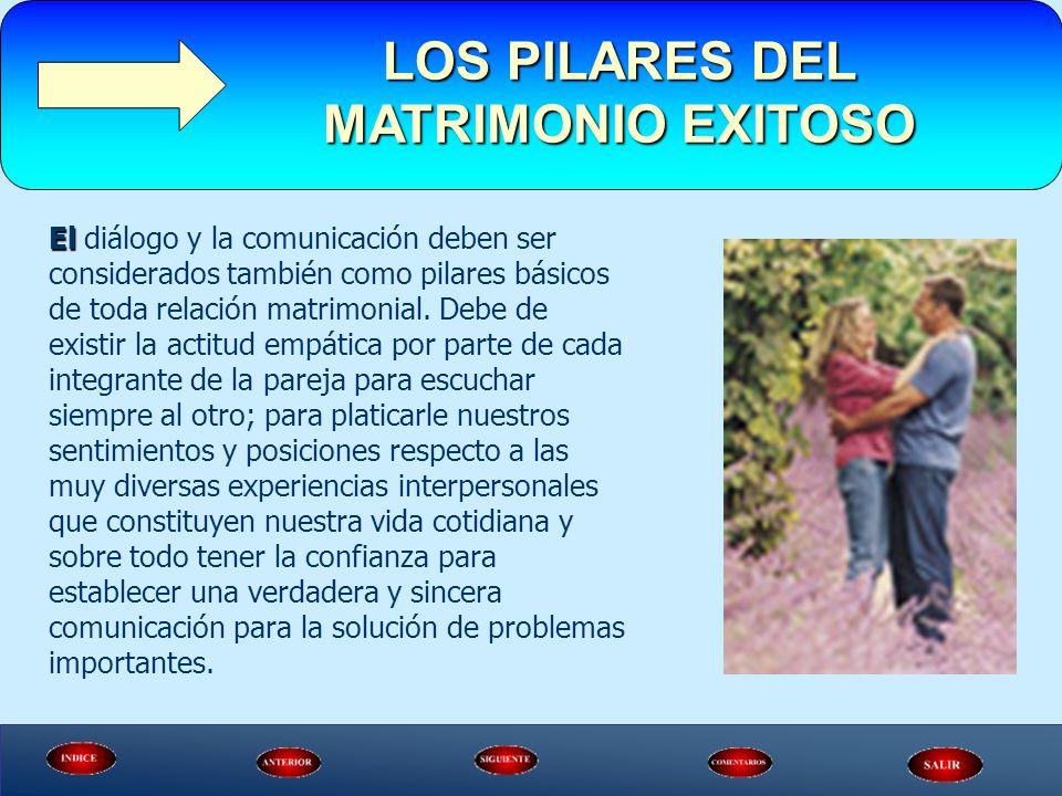 El diálogo y la comunicación deben ser considerados también como pilares básicos de toda relación matrimonial. Debe de existir la actitud empática por