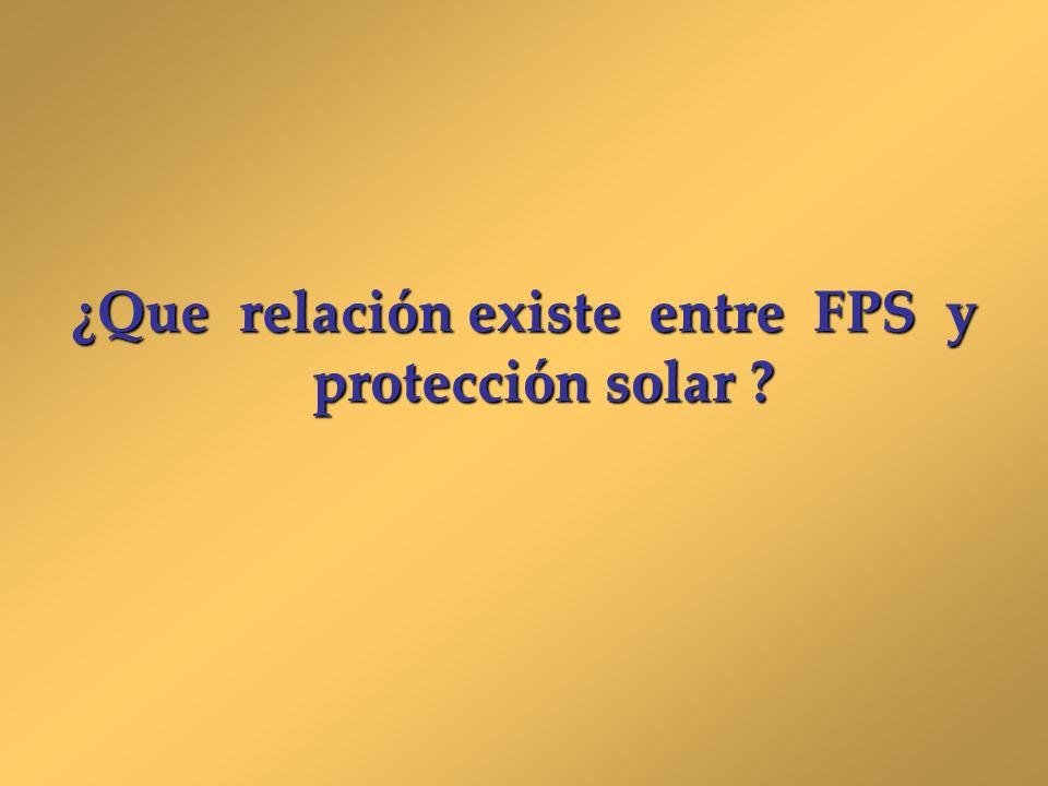 ¿Que relación existe entre FPS y protección solar ?