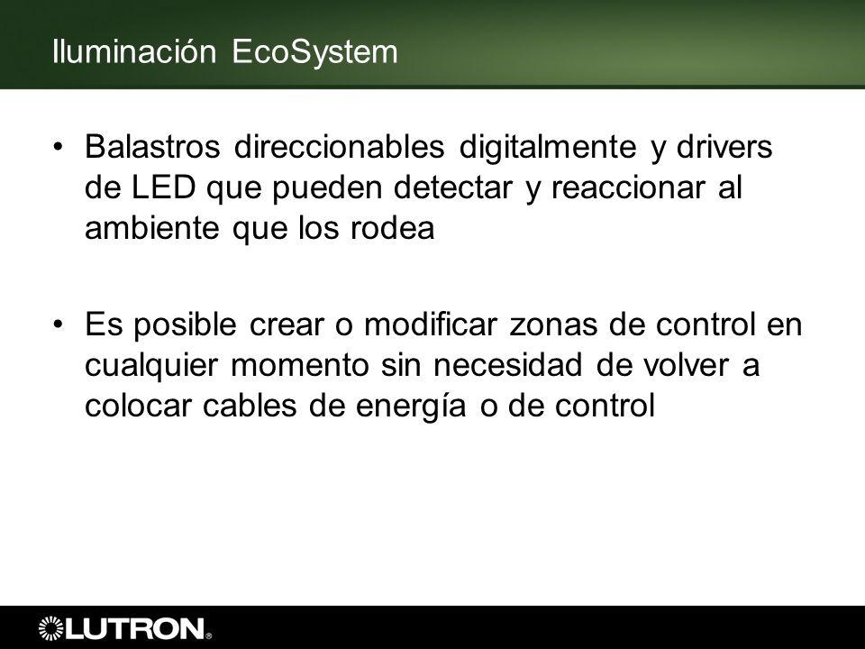 Iluminación EcoSystem Balastros direccionables digitalmente y drivers de LED que pueden detectar y reaccionar al ambiente que los rodea Es posible cre