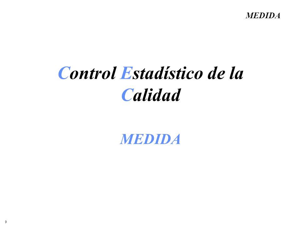 9 Control Estadístico de la Calidad MEDIDA