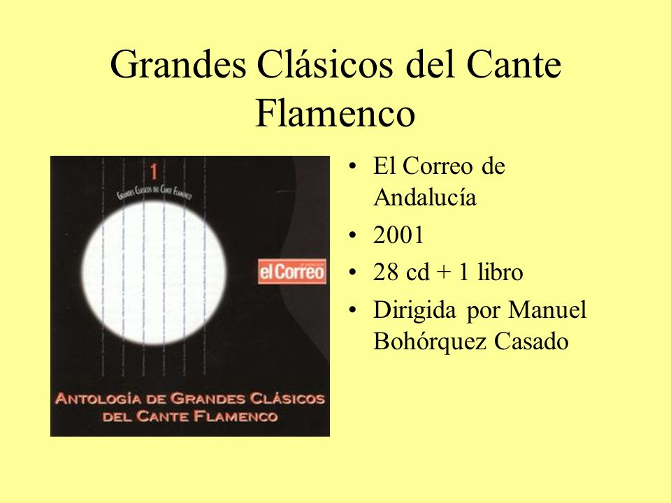 Grandes Clásicos del Cante Flamenco El Correo de Andalucía 2001 28 cd + 1 libro Dirigida por Manuel Bohórquez Casado