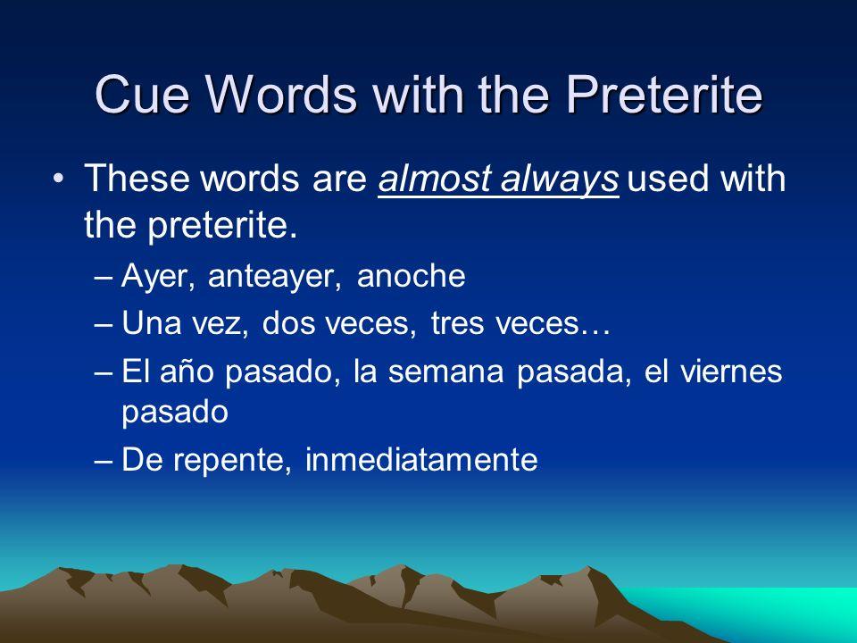 Conjugación de los verbos regulares Los verbos que terminan en –AR BAILAR Yo bailé Nosotros bailamos Tú bailaste Vosotros bailasteis Ud.