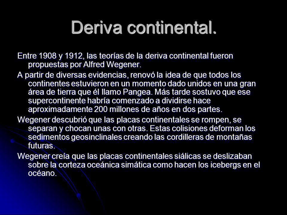Pruebas que afirman lo que sabemos sobre la deriva continental.