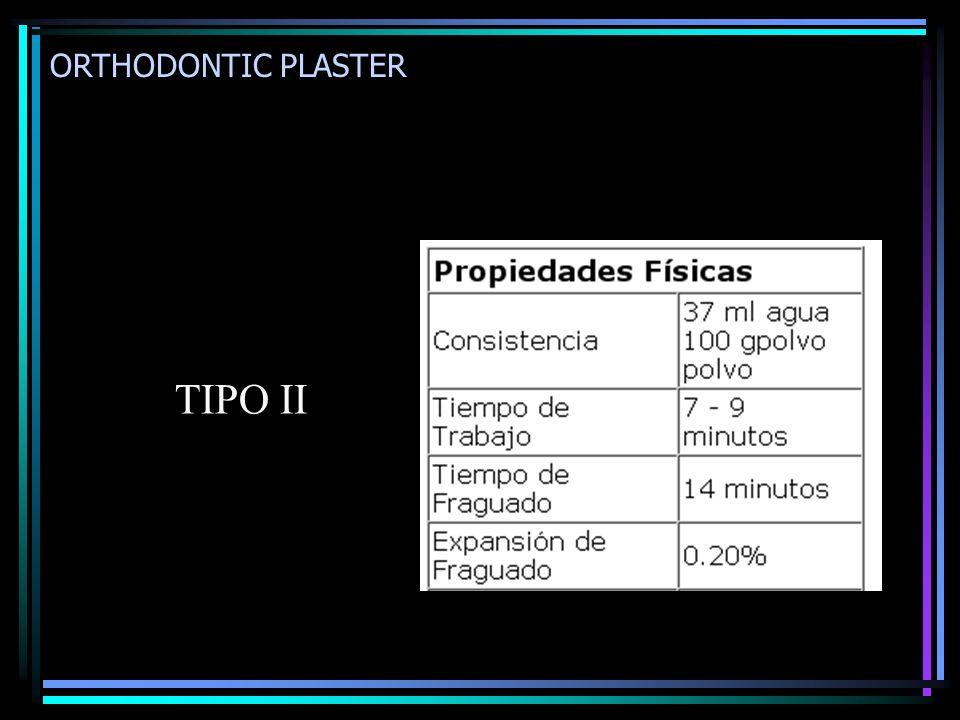 ORTHODONTIC PLASTER TIPO II