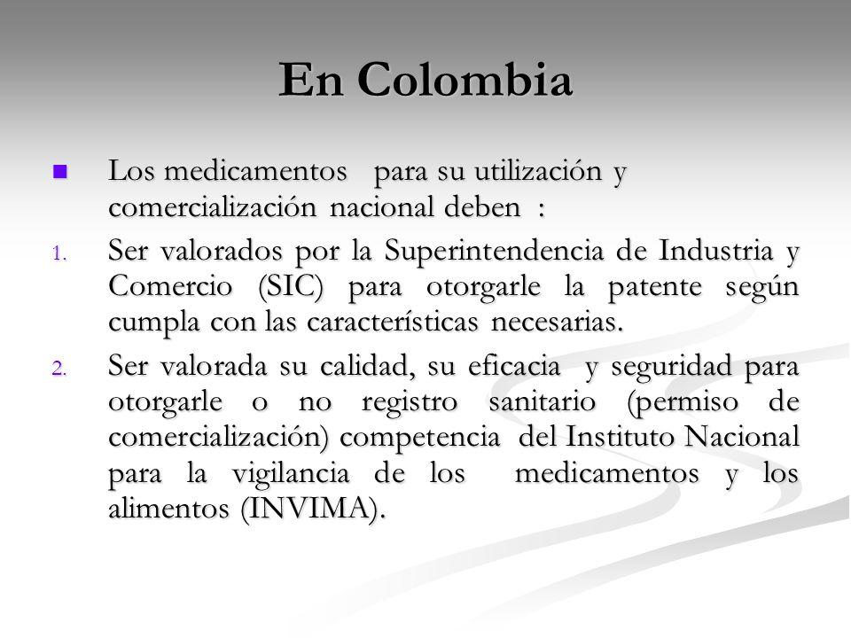 En Colombia Los medicamentos para su utilización y comercialización nacional deben : Los medicamentos para su utilización y comercialización nacional