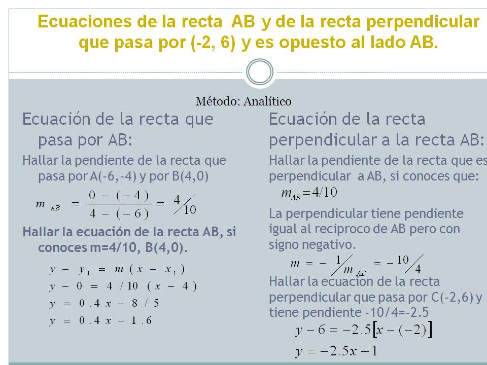 Trazar las alturas de un triángulo.Trazar una recta que pase por BC.