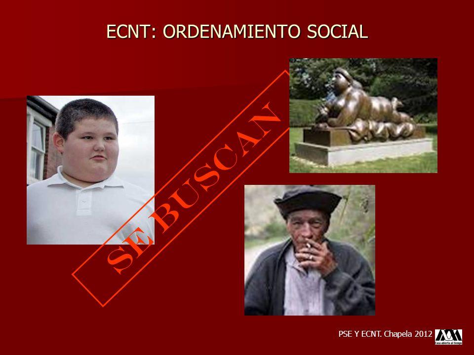 SE BUSCAN ECNT: ORDENAMIENTO SOCIAL PSE Y ECNT. Chapela 2012